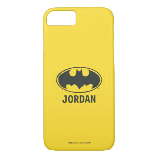 Batman Symbol | Spray Black White Logo iPhone 8/7 Case