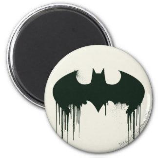 Batman Symbol   Spraypaint Logo 6 Cm Round Magnet