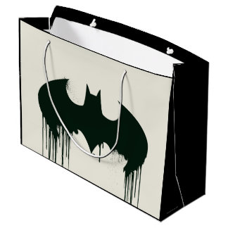 Batman Symbol | Spraypaint Logo Large Gift Bag