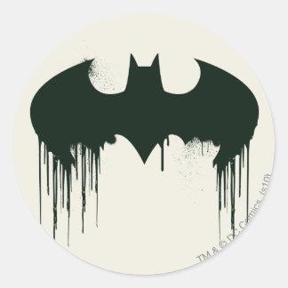 Batman Symbol | Spraypaint Logo Round Sticker