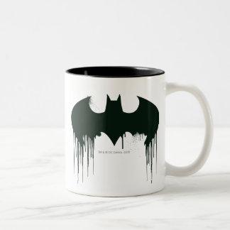 Batman Symbol | Spraypaint Logo Two-Tone Coffee Mug
