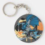 Batman Throw Basic Round Button Key Ring