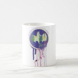Batman - Twisted Innocence Logo - Circle Purple Basic White Mug