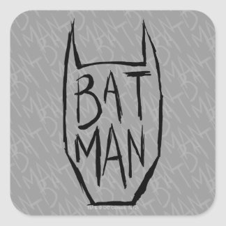Batman Type in Head Square Sticker