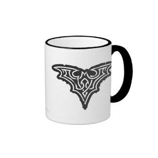 Batman Urban Black White Logo Ringer Mug