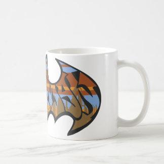 Batman Urban Blue Brown Logo Basic White Mug