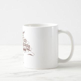 Batman Urban Dark Knight Brown Logo Basic White Mug