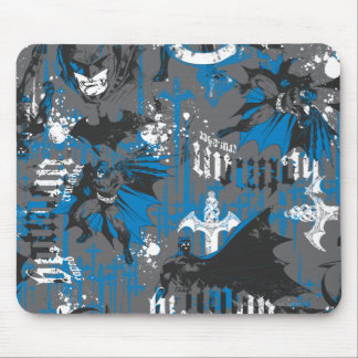Batman Urban Legends - Caped Crusader Pattern Blue Mouse Pad