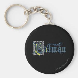 Batman | Urban Legends Capital B Yellow Logo Basic Round Button Key Ring