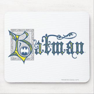 Batman   Urban Legends Capital B Yellow Logo Mouse Pad