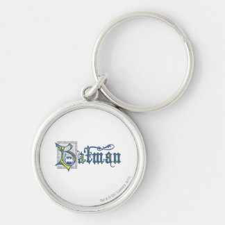 Batman | Urban Legends Capital B Yellow Logo Silver-Colored Round Key Ring