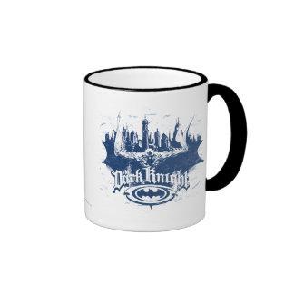 Batman Urban Legends - Dark Knight Cityscape Blue Ringer Mug