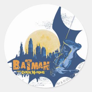 Batman Urban Legends - Dark Knight Cityscape Round Sticker