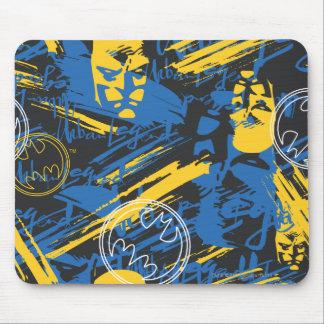 Batman Urban Legends - Head Pattern 2 Blue/Yellow Mouse Pad