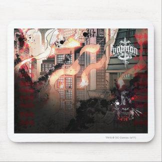 Batman Urban Legends - Red/Black Burning layout Mouse Pad