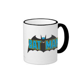 Batman Vintage Blue Black Logo Ringer Mug