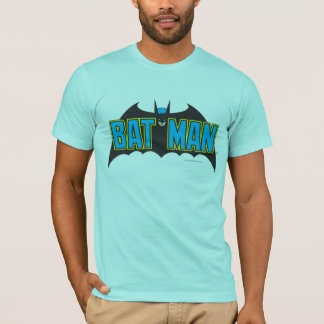 Batman | Vintage Blue Black Logo T-Shirt
