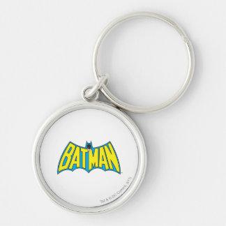 Batman Vintage Logo 2 Silver-Colored Round Key Ring