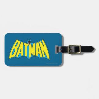 Batman | Vintage Yellow Blue Logo Luggage Tag