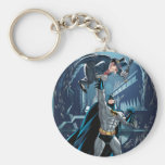 Batman vs. Penguin Basic Round Button Key Ring