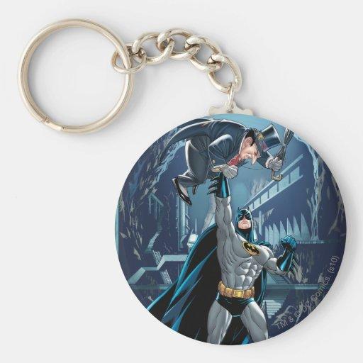 Batman vs. Penguin Basic Round Button Key Ring