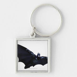 Batman Wings Spread Silver-Colored Square Key Ring