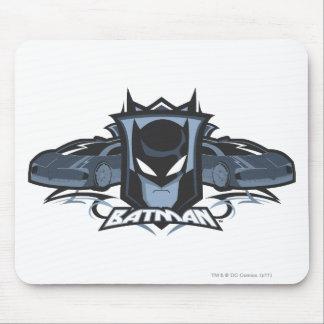 Batman with Batmobiles Mouse Pad