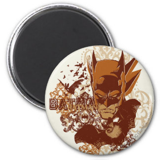 Batman with Bats Collage 6 Cm Round Magnet