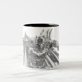 Batman with cape Drawing Two-Tone Coffee Mug