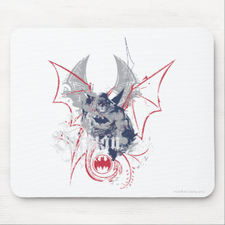 Batman with Grey and Red Mouse Pad