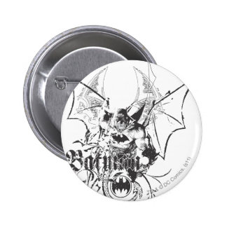 Batman with Logo and Wings 6 Cm Round Badge