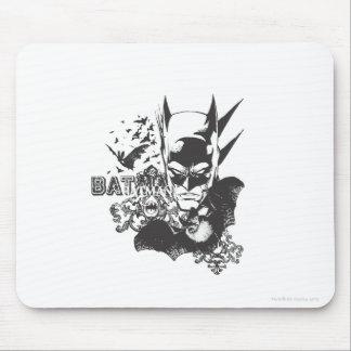 Batman with real bat mouse pad