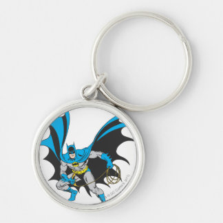 Batman with Rope Silver-Colored Round Key Ring