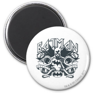 Batman with Snakes 6 Cm Round Magnet