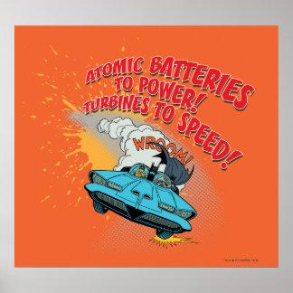 Batmobile Graphic Poster