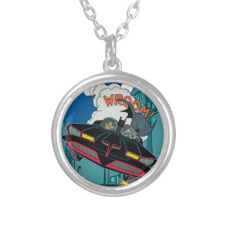 Batmobile Wroom! Silver Plated Necklace