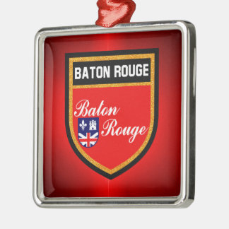 Baton Rouge Flag Metal Ornament