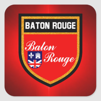 Baton Rouge Flag Square Sticker