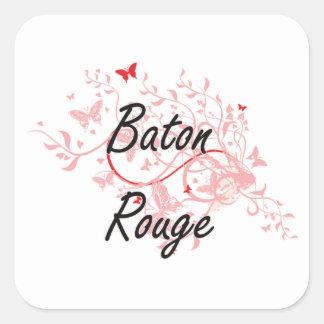 Baton Rouge Louisiana City Artistic design with bu Square Sticker