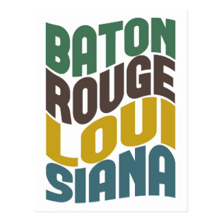 Baton Rouge Louisiana Retro Wave Postcard