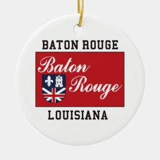 Baton Rouge Louisiana Round Ceramic Decoration