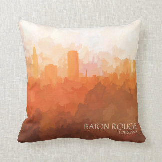 Baton Rouge, Louisiana Skyline-In the Clouds Cushion