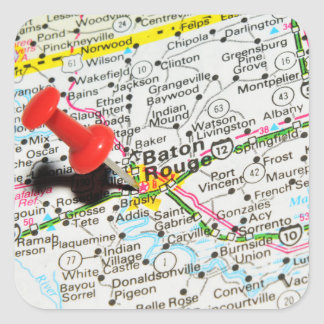 Baton Rouge, Louisiana Square Sticker