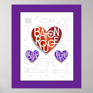 Baton Rouge Lover's Heart® Poster
