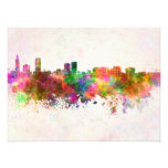 Baton Rouge skyline in watercolor background Art Photo