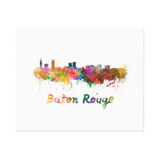 Baton Rouge skyline in watercolor copy Canvas Print