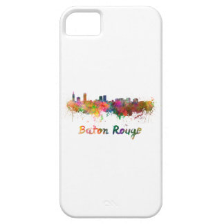 Baton Rouge skyline in watercolor copy Case For The iPhone 5