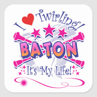 Baton Twirlers Square Sticker