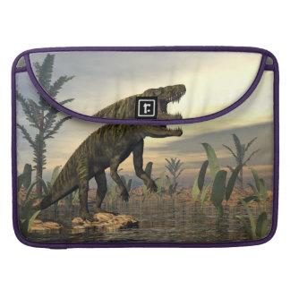 Batrachotomus dinosaur -3D render Sleeve For MacBooks