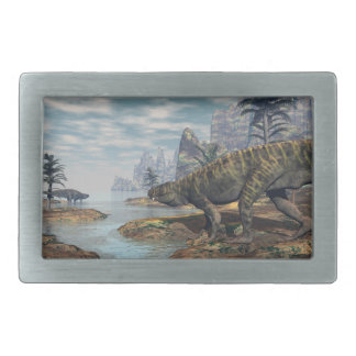 Batrachotomus dinosaurs -3D render Belt Buckle